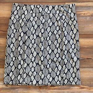 MICHAEL KORS Snake Print Skirt Size Large